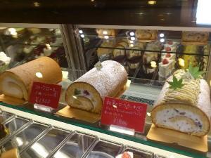 フルーツロール、和栗のロールケーキ