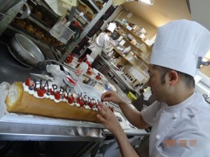 ウェディングロールケーキ