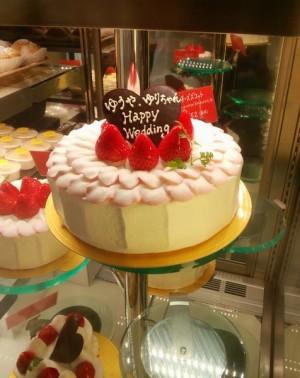 フリル ウェディングケーキ