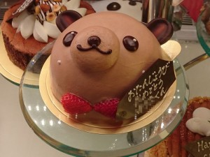 バースデーケーキ クマ